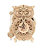 RoWood 3D Wooden Puzzle, Clock Model Kits Gift for Adults & Teens - Owl Clock (161 PCS)