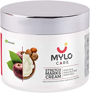 Mylo Care Stretch Marks Cream for Pregnancy (100 ml) with the Goodness of Shea Butter, Saffron, Kokum Butter and Aloe Ver...