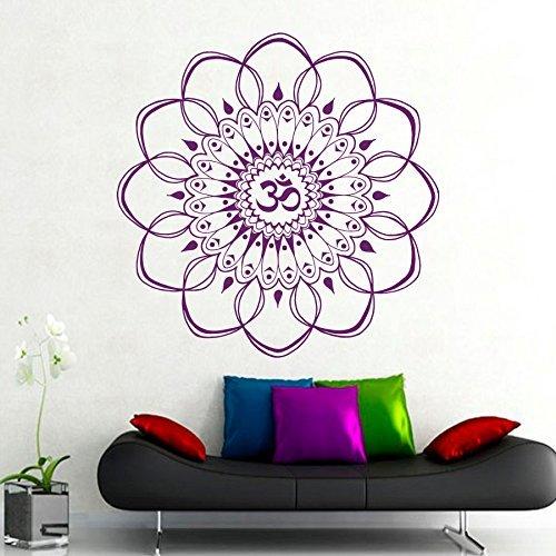Gross Adhesivo decorativo para pared con diseño de mandala indio, patrón marroquí, yoga geométrico, flor 'Namaste', vinilo para dormitorio