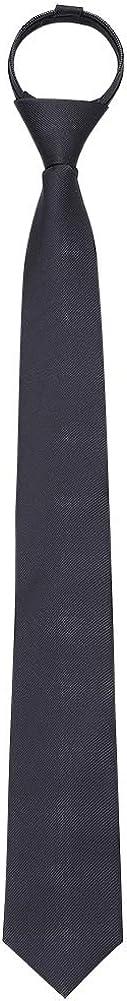AUSKY Pre-tied Adjustable Zipper Skinny necktie,2.35inch Clip on Slim Ties for men or boys (1 Pack & 4 Packs for option)
