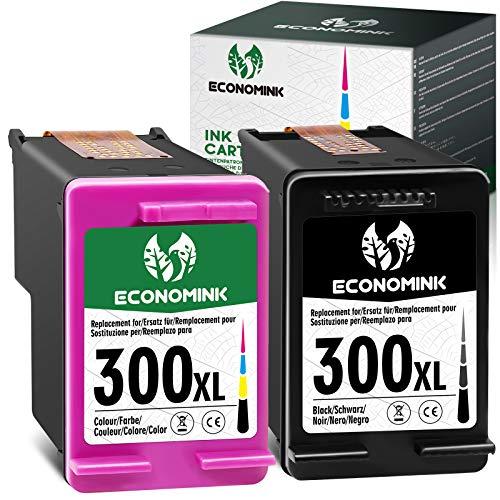 Economink Remanufacturado para HP 300 300 XL Cartuchos de Tinta Reemplazo para DeskJet F2480 F2420 F4580 F4280 F2400 F4210 F4500 PhotoSmart C4680 C4780 Envy 100 120 (1 Negro, 1 Tricolor)