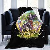 GTGTH Cobija Sword Art Online Soft and Warm Throw Blanket Digital Printed Ultra-Soft Micro Fleece Blanket 60'x50'