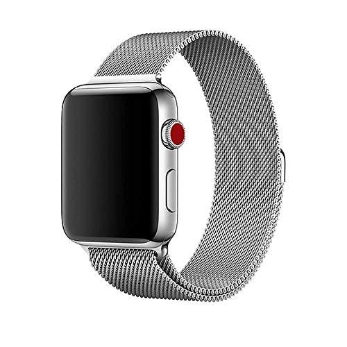 Pulseira Milanese Aço Para Apple Watch - 42/44mm - Prata