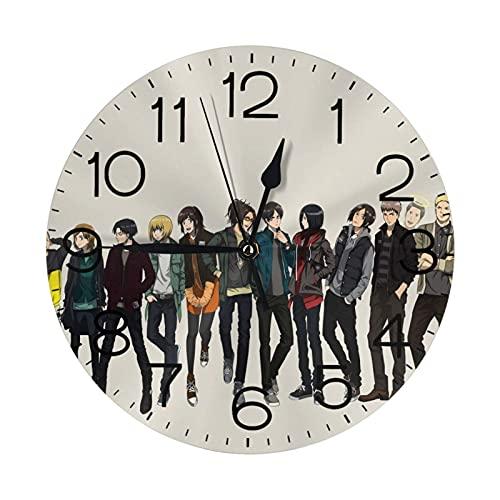 ZHENGYUAN Reloj de pared redondo de madera Atta (-On-), núm
