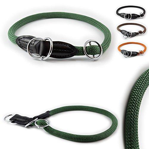 Pear - Tannery CarlCurt - Training Line: Retriever-Hundehalsband Aus Strapazierfähigem Nylon, XS 44-46cm, Olive
