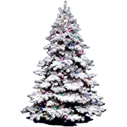 Vickerman 3Ft. Flocked Alaskan Unlite White on Green Christmas Tree w/ 116 Tip