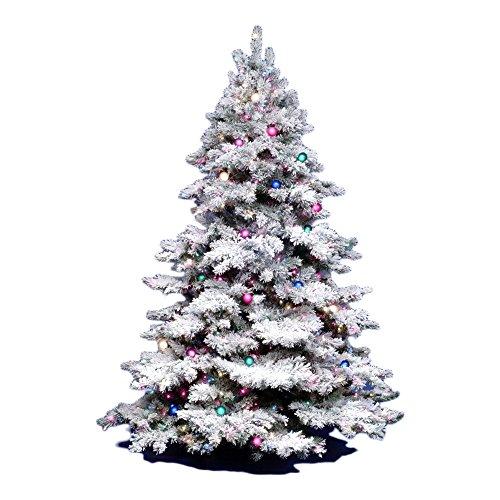 Vickerman Flocked Alaskan Pine Tree with 1045 Tip, 6.5-Feet by 62-Inch