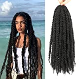 Ayana Marley Hair 3 Packs Marley Twist Braiding Hair Marley Braiding Hair For Faux Locs Crochet Hair 24Inch Long Afro Synthetic Hair Extensions (24 inch-3 pack, 1B)