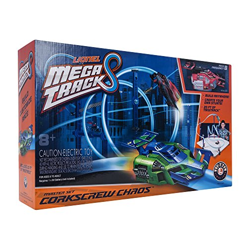 Lionel Mega Tracks, Build-your-own Customizable Race track, Corkscrew Chaos Red Engine