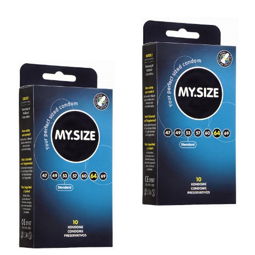 My.Size 64mm - 20 condones grandes, ancho 64mm