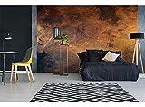 Vlies Fototapete VERKRATZTES KUPFER 375 x 250 cm | Vliestapete   Wandtapete für Wohnzimmer Schlafzimmer Büro Flur | PREMIUM QUALITÄT   MADE IN EU   Inklusive Tapetenkleber