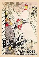 "Babylone d 'allemagne (ドイツ語バビロン) Fineアートキャンバス印刷(20"" x30"")"