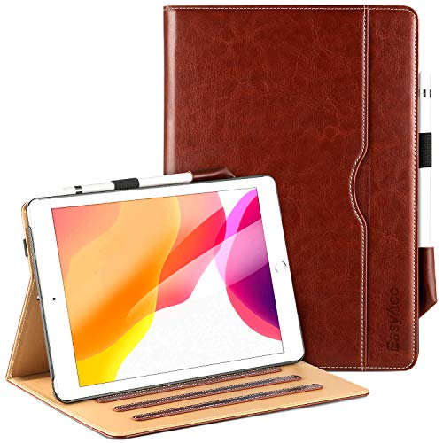 EasyAcc Case for iPad 10.2 2019 with Pencil Holder, Premium PU Leather Made by...