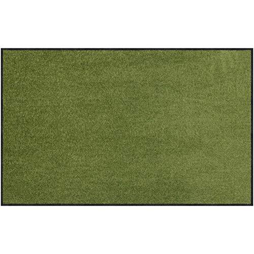 alonloewe Fußmatte waschbar Salbei 75x120 cm Sauberlaufmatte, Fußabtreter außen, Motiv-Fußmatte, Wohnmatte