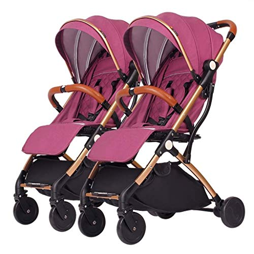 Buy Discount XZHSA Lightweight Double Stroller Baby Twins Stroller - Newborn 3 Years Old (Color : C)