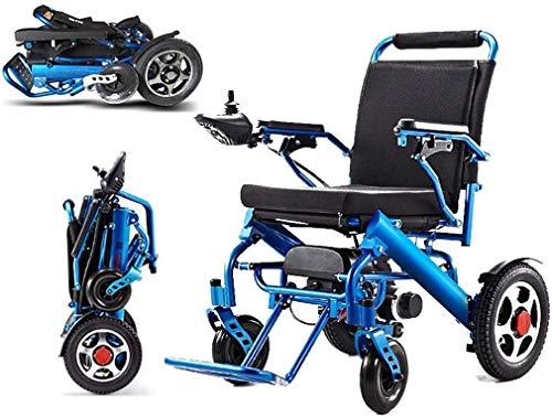 Dljyy Elektrische rolstoel, opvouwbaar, ouder, hulpmiddel voor handicap in de auto, intelligente compacte, automatische draagbare en lichte scooter, vrije installatie, 23 kg, automatische Intelli
