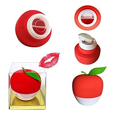 Best Red Lip Plumper Devices Enhancer Lesnic Complete (GEL Mouth Cover Included) Lesnic's Hot Mouth Beauty Lip Pump Enhancement, Pump Device Fast Lip Plumper Enhancer (RED)