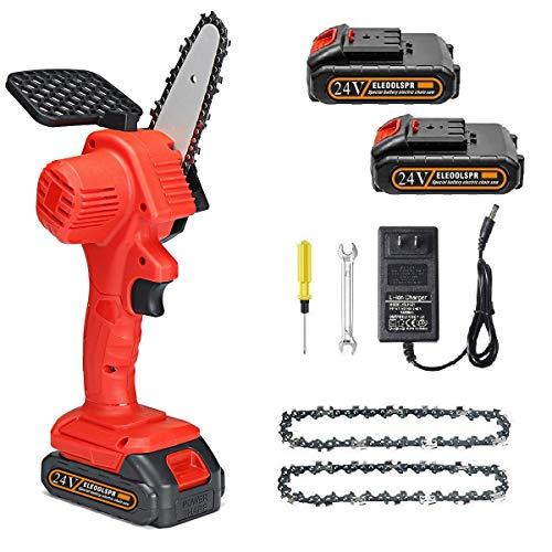 Mini Chainsaw 4-Inch Cordless Electric...