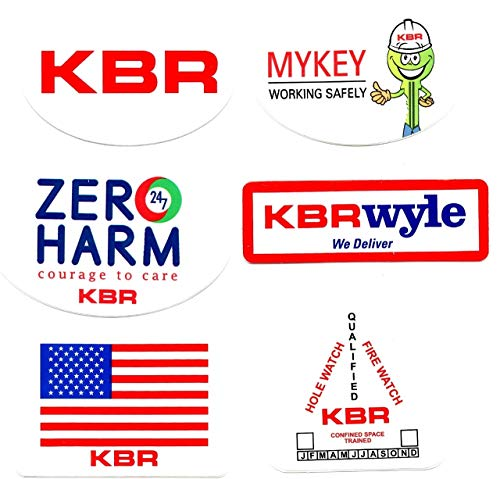 KBR 6 Sticker Bundle. Hardhat/Decals. Great for the Roughneck, Oil Worker, Construction Worker. Looks great on a Helmet, Lunchbox, or Toolbox.