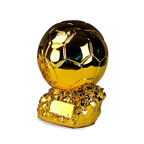Trofeo de Oro de fútbol Pelota de la Copa de Resina Coinciden con los artículos de Equipamiento de Oficina para Sentarse del Dormitorio del Sitio,15cm