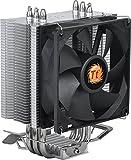 Thermaltake Contac 9 - Ventilador para AMD AM4/FM2/FM1/AM3+/AM3/AM2+/AM2 y Intel LGA 1366/1156/1155/1151/1150/775, Color Negro