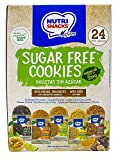 Nutrisnacks Sugar Free Cookies 24 units Variety Pack, 5 natural flavors, 0 gr of Sugar, sweetened with stevia, with whole grain cereals, dietary fiber and prebiotics.