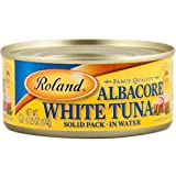 Roland Foods Fancy Albacore White Tuna in Water, Solid Pack, Specialty Imported Food, 6-Ounce Can