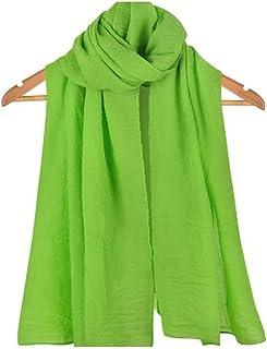 Bullidea Silk Scarf Women's Solid Color Long Decoration Scarf Beach Thin Shawl Wrap Sunscreen Various Colors