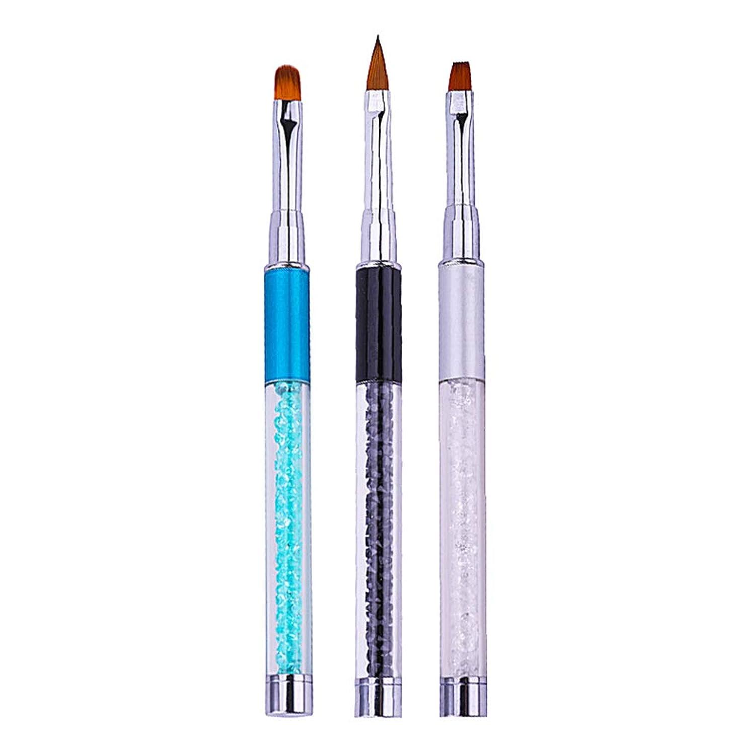 日章宗教的なLURROSE 3本ネイルアート絵画ペン光線療法彫刻ブラシペンマニキュアツール