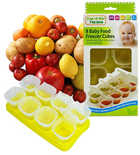 3 X Baby Weaning Food Freezing Cubes Tray Pots Freezer Storage Containers BPA Free