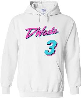 PROSPECT SHIRTS White Miami Wade Miami Vice Hooded Sweatshirt