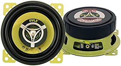 Car Two Way Speaker System – Pro 4 Inch 140 Watt 4 Ohm Mid Tweeter Component Audio..