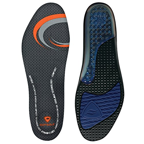 Sof Sole Men's Airr Insole, Black, Men's 9-10.5