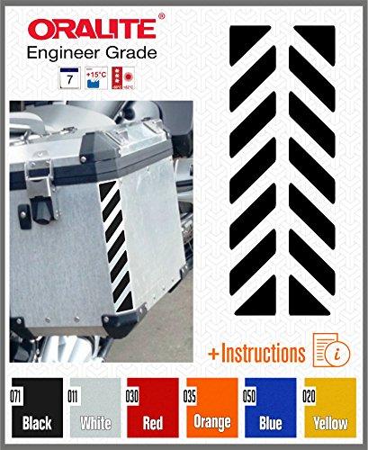 Preisvergleich Produktbild 2pcs Reflektierende Aufkleber für Touratech Motorcycle Aluminium Panniers (Black 071)