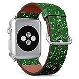 ( Maths ofmula Pattern )Patterned Leather Wristband...