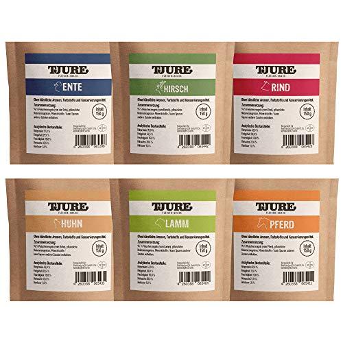TJURE Hund - Snack Box All in One ( 6 x 150 g) Verschiedene Sorten