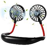 Neck Fan, 2500mAh Battery Operated Personal Fan, 360 Degree Free Rotation USB Hands Free Fan, Personal Cooling Fan Portable Fans, Wearable Fan, Hanging Neckband Sports Fan for Sports, Office and Outdoor