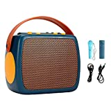 chiwanji Máquina de Karaoke para niños de Juguete, Altavoz inalámbrico Bluetooth con micrófono, Altavoz portátil, Fiesta de cumpleaños navideña en casa para - Azul