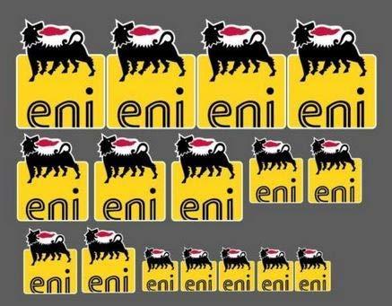 Set 16 Autocollants Agip Eni Log...