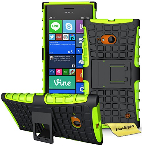 Nokia Lumia 730 735 Funda, FoneExpert® Heavy Duty silicona híbrida con soporte...