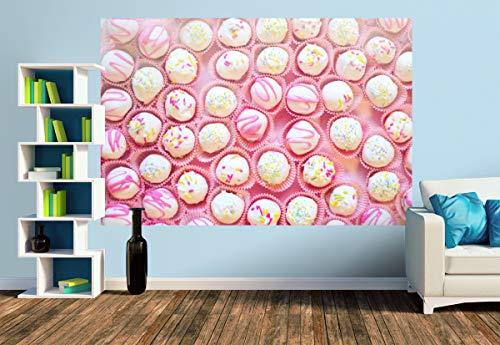 Premium Foto-Tapete Herzhafte Pralinen in zarten Farben (versch. Größen) (Size M | 279 x 186 cm) Design-Tapete, Wand-Tapete, Wand-Dekoration, Photo-Tapete, Markenqualität von ERFURT