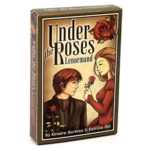 Unter Den Rosen Lenormand 39 Karten Oracle Deck, Full English Mysterious Divination Familienfeier Spaß Tarot Brettspiel