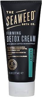 The Seaweed Bath Co. Firming Detox Cream, Awaken Scent (Rosemary & Mint), Cellulite Cream, Vegan, Paraben Free, 6 oz.
