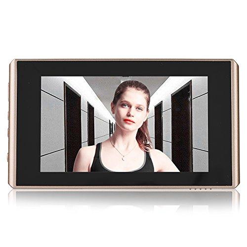 Video deurbel camera, 4,3 inch LCD-scherm Digitale kijkgaatje kijker Nachtzicht deurbel 2 miljoen pixels 32 GB micro SD-kaart