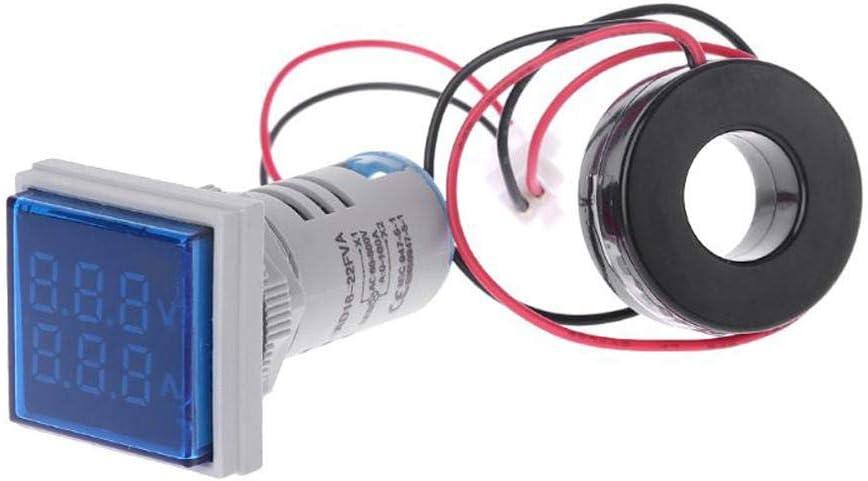 KASILU EJG0114 5pcs Blue Light Max 48% OFF AC 0-100A Cheap D18 60-500V Square LED