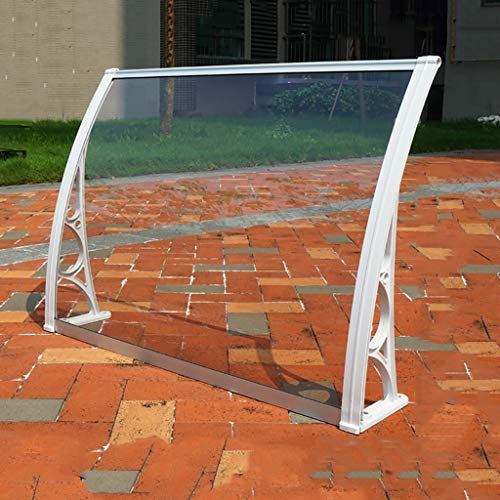 WXQIANG Türvordach PC Polycarbonat Markise Regen Shelter Tür Canopy Markise Fenster Regen Schutz-Abdeckung for Fronttür Porch - 5 Größen (Size : 60 * 100cm)