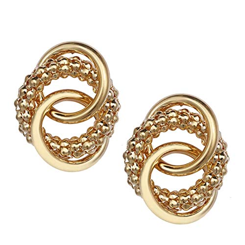 Punk Metal Simple Twisted Round Big Earrings Unique Fashion Gold Silver Color Drop Earrings Women Jewelry
