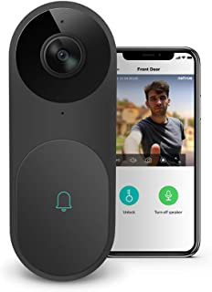 Video Doorbell - A.I. WiFi HD Camera Doorbell with Facial Recognition, Voice Interaction, Night Vision, Motion Detection, ...
