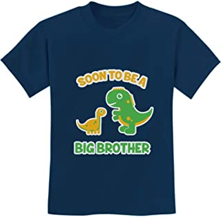 Soon to Be A Big Brother Gift Idea - Raptor Dinosaur Kids T-Shirt with Stickers