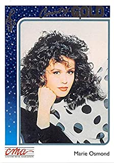 Marie Osmond trading card Country Gold 1992#32 Gold Edition